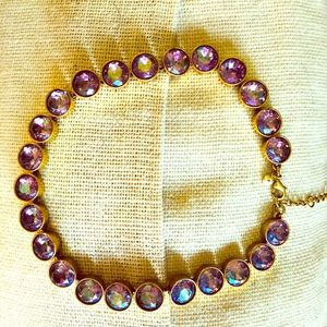 Statement Jewelry! J. Crew -purple iridescent/gold